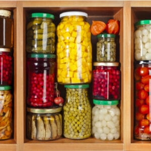 pantry of properly sealed food